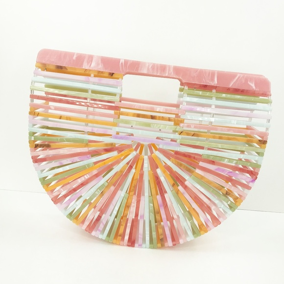 CLOSET REHAB Handbags - Acrylic Arc Handbag in Pastel